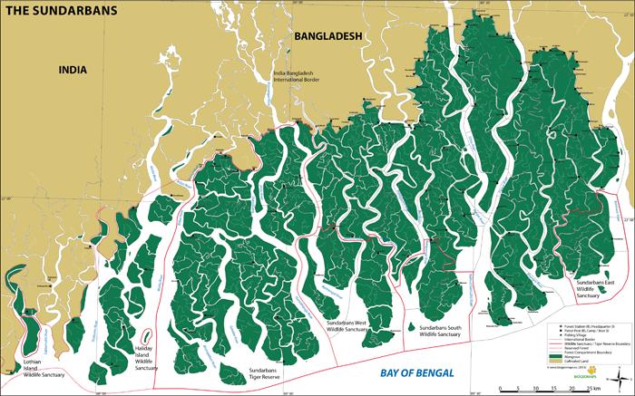 Sundarbans Map