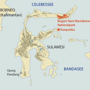 Lage des Bogani Nani Wartabone Nationalparks auf Sulawesi